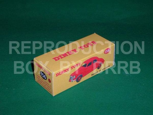 Dinky #156 Rover 75 Saloon - Reproduction Box ( Red )